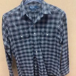 Polo Button Down Plaid Shirt (M)